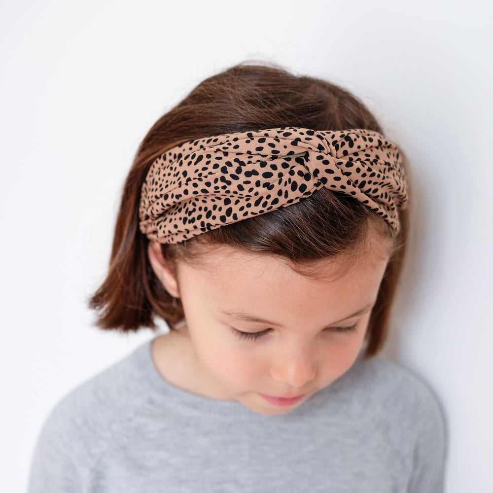 Mimi and Lula -Leopard Wide Alice Band