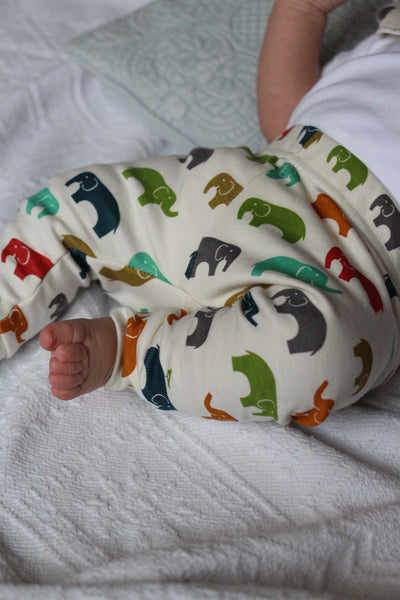 Ensemble 100% Bio Éléphants version bébé