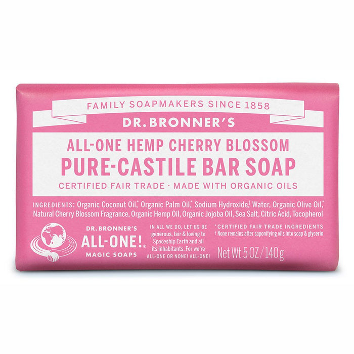Dr Bronner's Pure-Castille Bar Soap - Cherry Blossom
