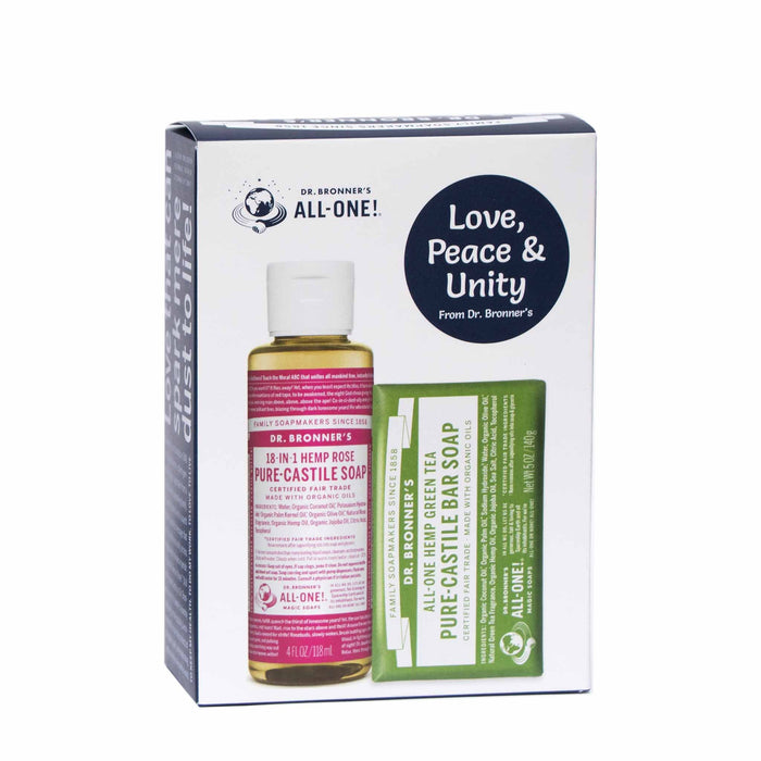 Dr Bronner's Rose & Green Tea Soap Gift Pack