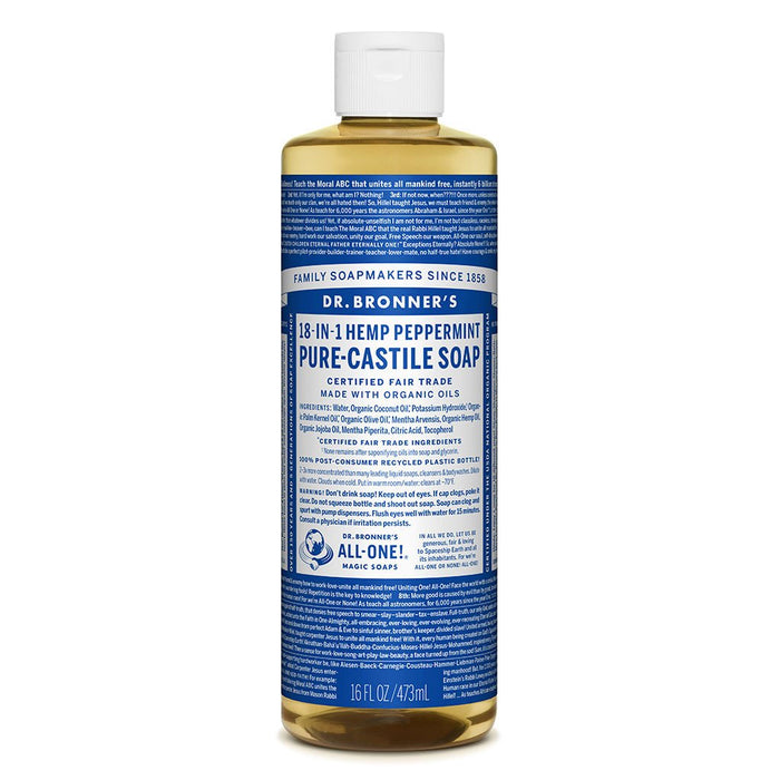 Dr Bronner's Pure-Castille Liquid Soap - Peppermint