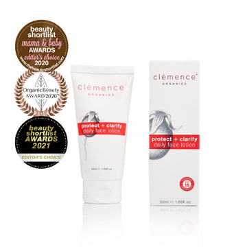 Clemence Organics Protect + Clarify Daily Face Lotion