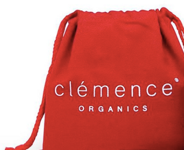 Clemence Organics GWP - Red Travel Pouch
