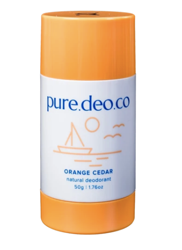 Pure Deo Co Orange Cedar Natural Deodorant