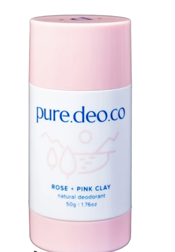 Pure Deo Co Rose + Pink Clay Natural Deodorant
