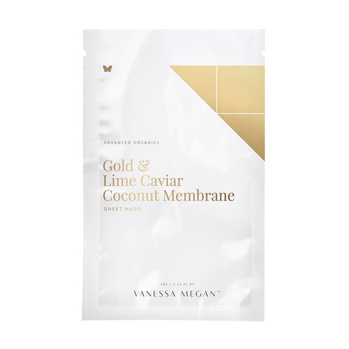 Vanessa Megan Gold & Lime Caviar Coconut Membrane Sheet Mask