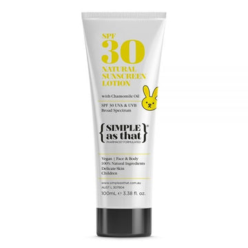 Simple As That Children's Natural Sunscreen Lotion - SPF30
