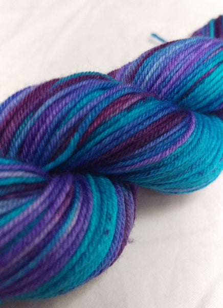 Superwash Merino / Nylon, 4 ply (sock), 50g - Blueberry Gone Wild