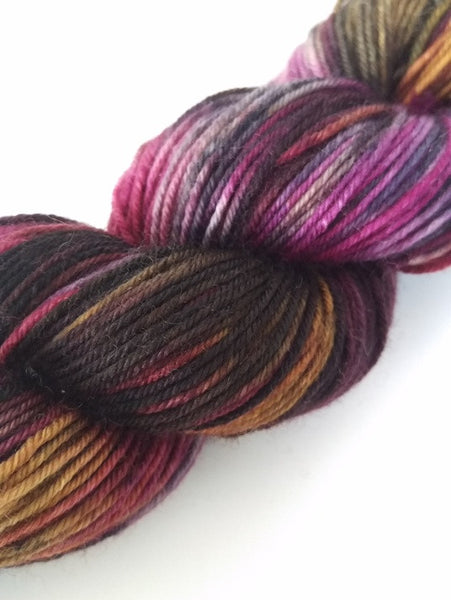 Superwash Merino / Nylon, 4 ply (sock), 50g - Burnt Raspberry