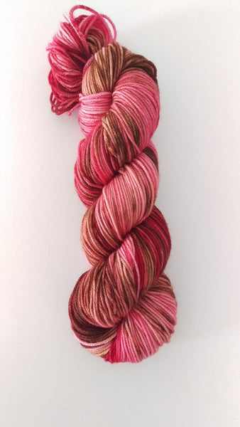 Superwash Merino Crazy Eight DK (8 ply), 100g - Chocolate Covered Strawberries