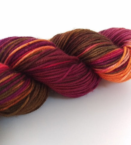 Superwash Merino / Nylon, 4 ply (sock), 50g - Opal Plum