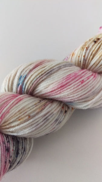 Superwash Merino / Nylon, 4 ply (sock), 50g - Vanilla Sundae Swirl