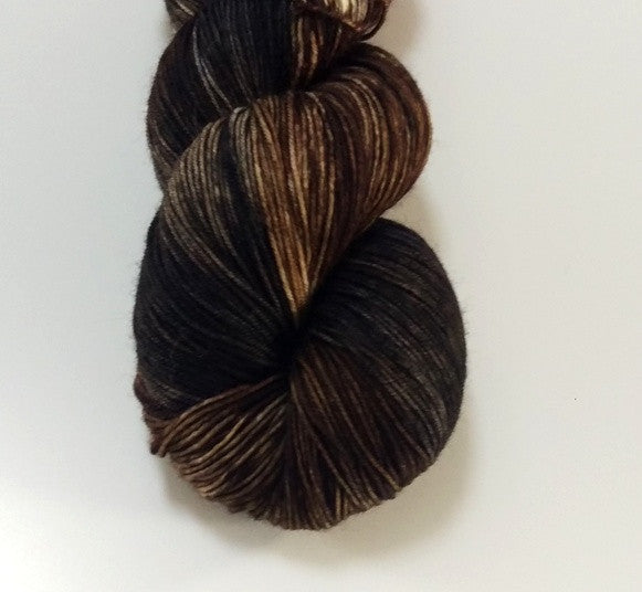 Superwash Merino / Nylon, 4 ply (sock), 100g - Bold Espresso