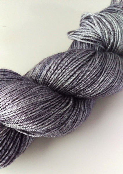 Superwash Merino / Silk, 4 ply (fingering/sock), 100g - Colloidal Silver