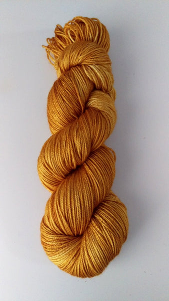 Superwash Merino / Silk, 4 ply (fingering/sock), 100g - Golden Honey