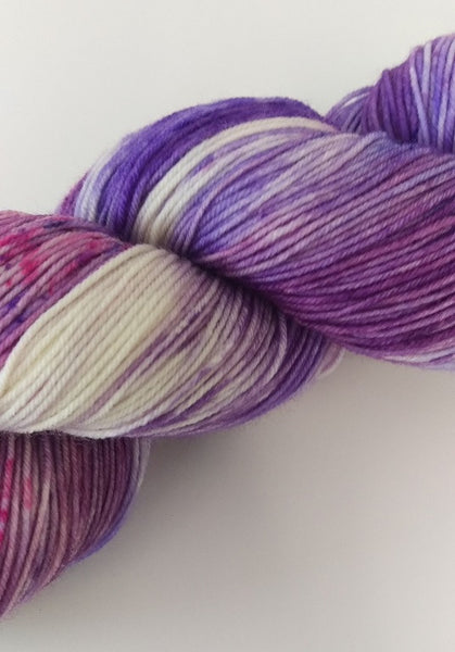 Superwash Merino / Nylon, 4 ply (sock), 100g - Grape Bubblegum