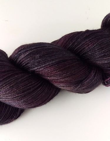 Superwash Merino / Silk, 4 ply (fingering/sock), 100g - Kalamata Olive