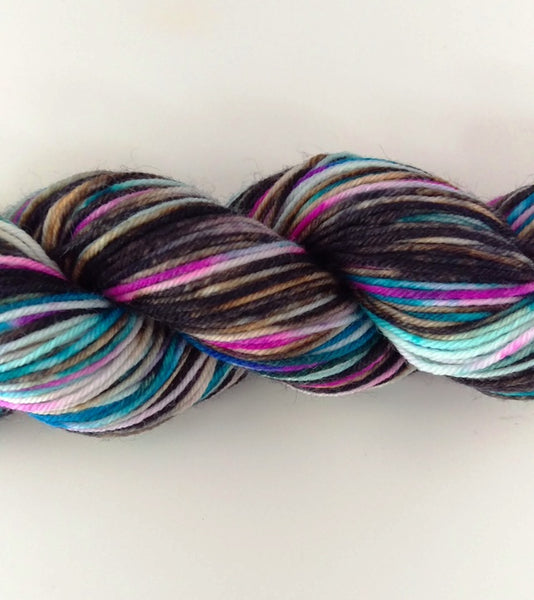 Superwash Merino / Nylon, 4 ply (sock), 50g - Licorice Confetti