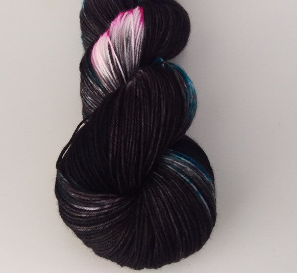 Superwash Merino / Nylon, 4 ply (sock), 100g - Licorice Confetti