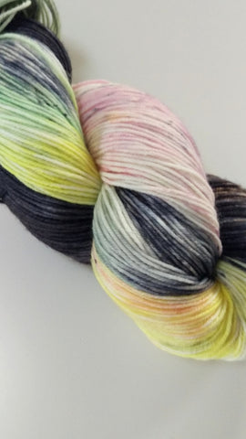 Superwash Merino / Nylon, 4 ply (sock), 100g - Licorice Allsorts