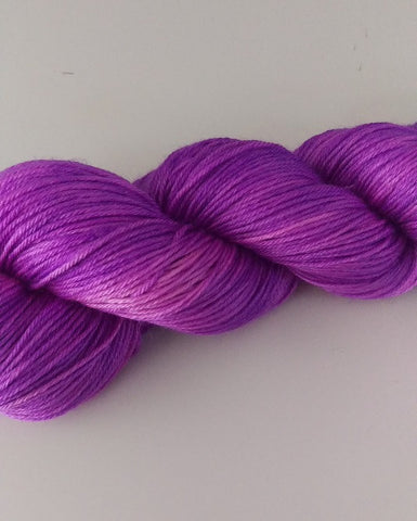 Superwash Merino / Silk, 4 ply (fingering/sock), 100g - Neon Grape