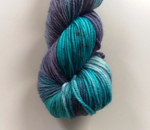 Superwash Merino / Bamboo DK (8 ply) - Peacock Tea