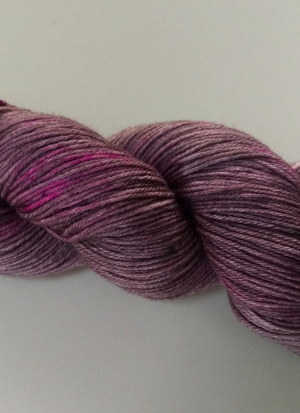 Superwash Merino / Silk, 4 ply (fingering/sock), 100g - Silky Raspberry Marshmallow