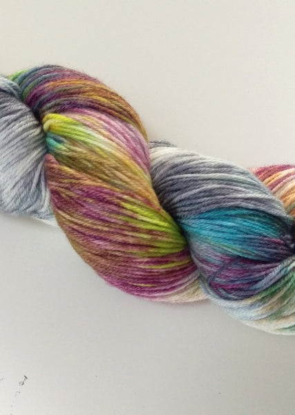 Superwash Merino / Bamboo (4 ply/fingering) - Tropical Fruit Fiesta