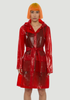 Transparent Belt Jacket Glossy Red