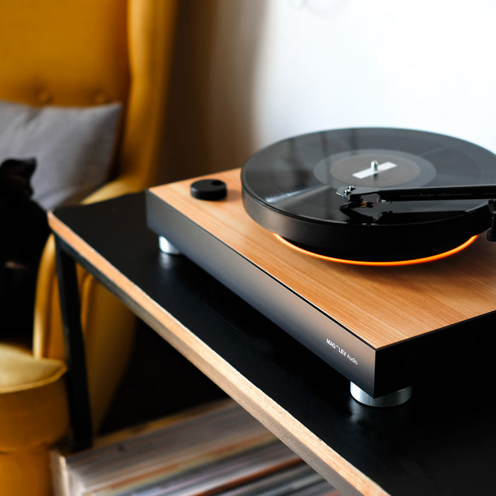 "How does the world's first ""levitating turntable"" actually work?"
