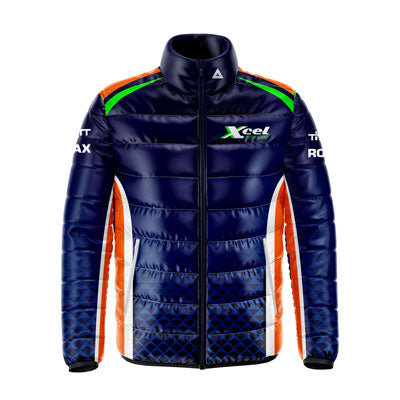 Motorsport teamwear sublimated padded jacket