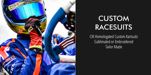 Custom Kart Racesuits: FIA/CIK Homologated Custom Kart Race Suits, Sublimated or Embroidered, Tailor Made
