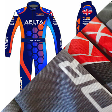 Sublimated kart racesuit