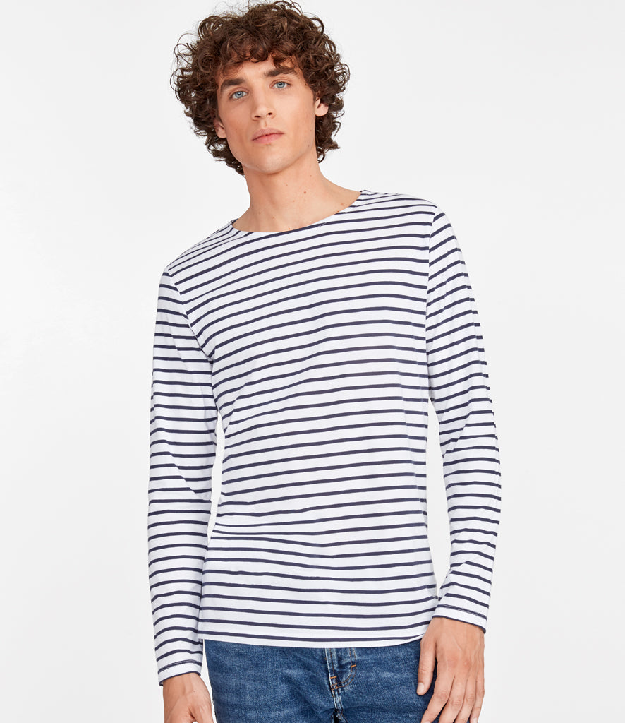 SOL'S Marine Long Sleeve Stripe T-Shirt