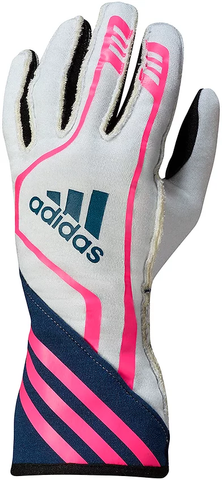 Adidas RSR Gloves White/Navy/Fluro Pink