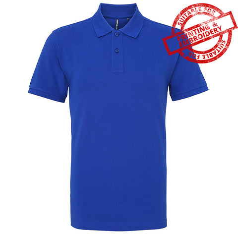 Mens Asquith & Fox Polo Royal Blue - Tiger Prints Motorsport Teamwear - 1