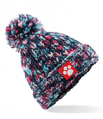 Tiger Prints Twister Pom Pom Beanie