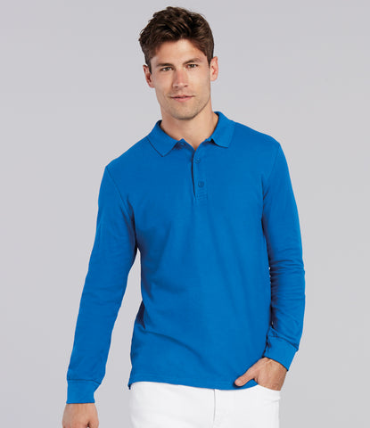 Gildan Long Sleeve Premium Cotton Double Pique Polo Shirt