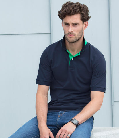 Henbury Contrast Poly/Cotton Pique Polo Shirt