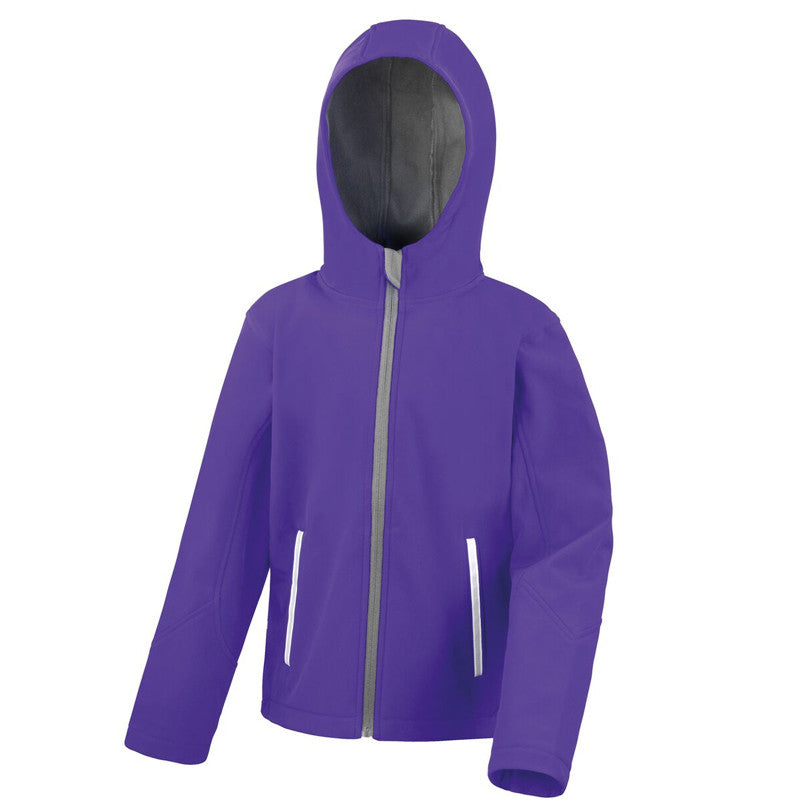Image result for purple softshell jacket kids with hood