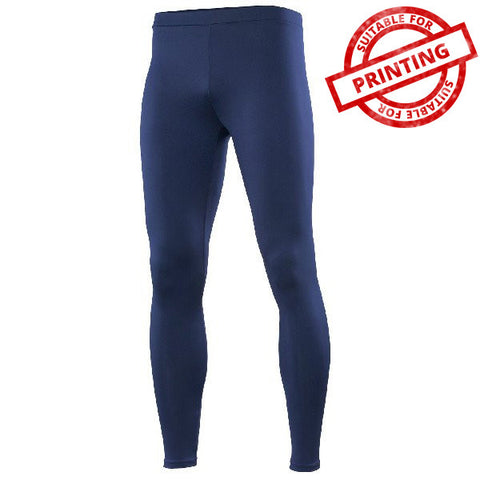 Mens Rhino Base Layer Leggings Navy - Tiger Prints Motorsport Teamwear - 1