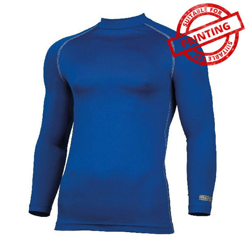 Mens Rhino Base Layer Long Sleeve Royal Blue - Tiger Prints Motorsport Teamwear - 1