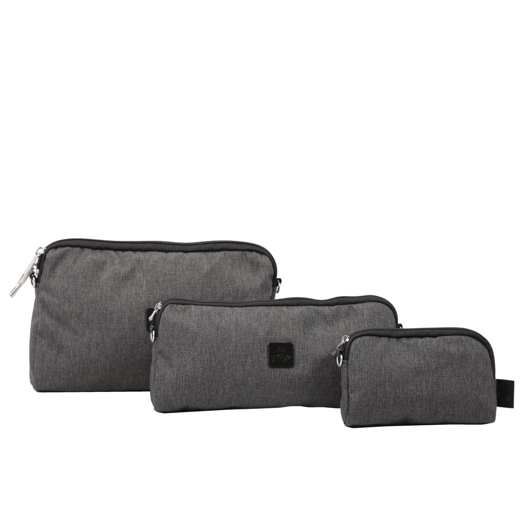 OUTLET - Ju-Ju-Be Onyx Be Set pouch set in the Chrome