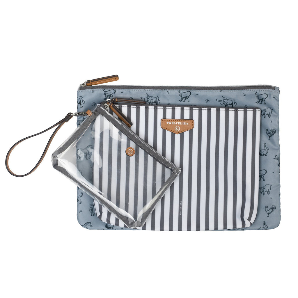 TWELVElittle Trio Pouch in Stripe Print