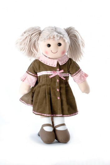 Pomme-Pidou traditional rag doll Julie, 25 cm