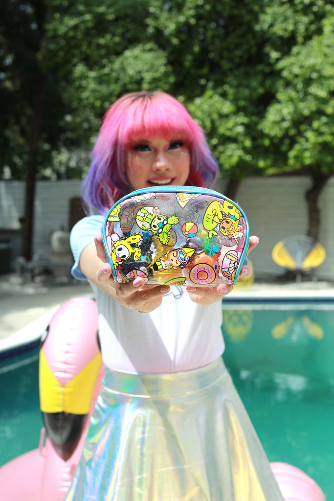 Tokidoki Pool Party Clear Cosmetic Case