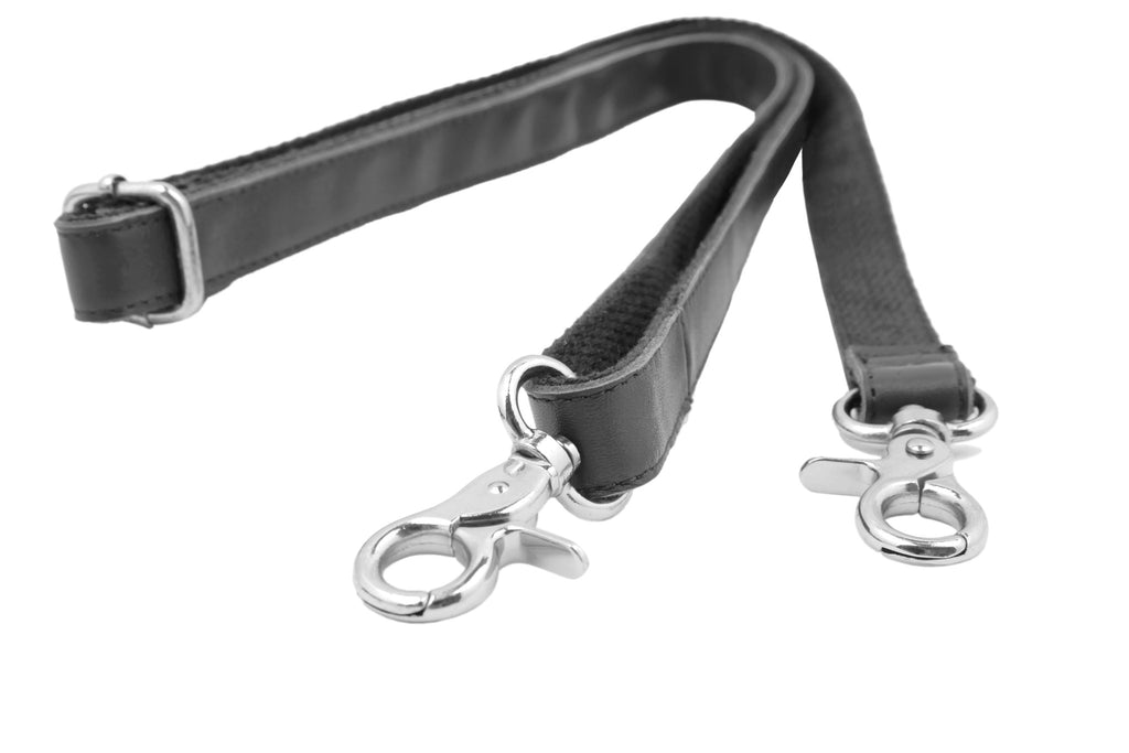 Insjö leather shoulder strap Black