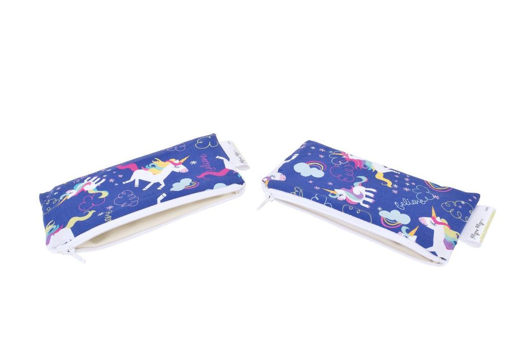 Itzy Ritzy Snack Happens Mini 2-pack Reusable Snack and Everything Bag Unicorn Dreams