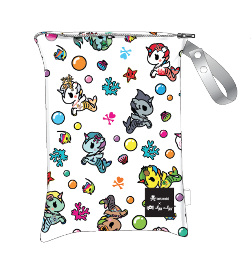 Tokidoki x Itzy Ritzy Travel Happens Sealed Wet Bag Mermicorno Allstars