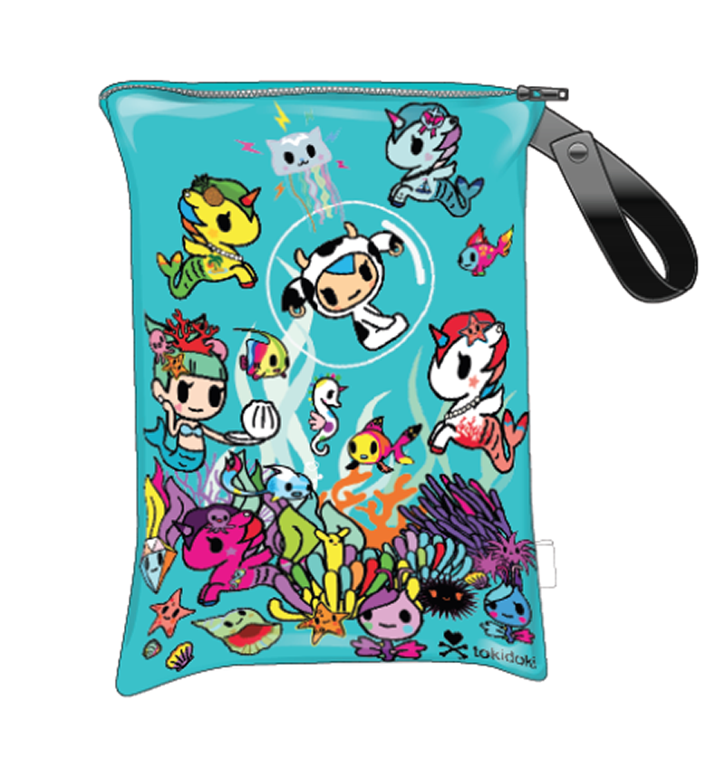Tokidoki x Itzy Ritzy Travel Happens Sealed Wet Bag Underwater Adventure